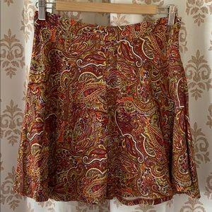ZARA WOMAN Paisley mini skirt M